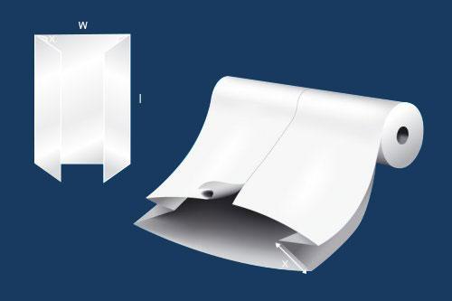 gusseted-center-slit-sheet